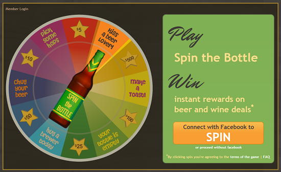 Spin the Bottle Game on LetsPour