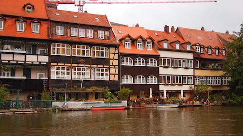 """Little Venice"" in Bamberg Germany"