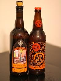 Bottles of Biere de Garde and Biere de Mars