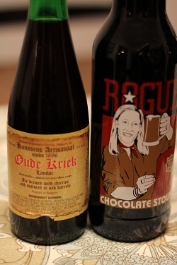 Chocolate Stout and Kriek