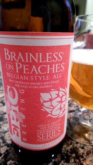 Epic Brainless Peaches beer