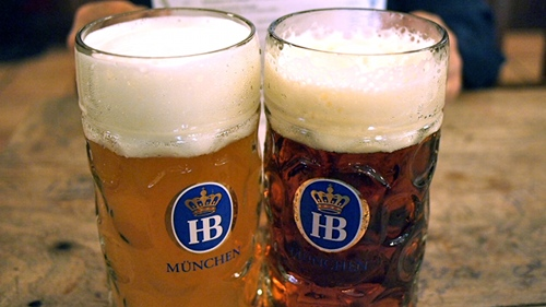 Hofbrauhaus beer in Munich