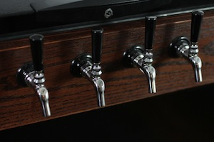 Perlick faucets on keezer