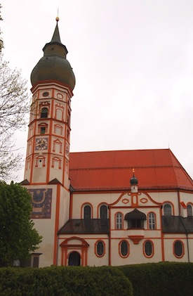 The church on top of the hill at Kloster Andechs.