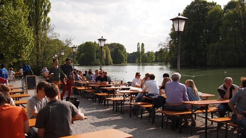 Seehaus Beer Garden in Munich's English Garden