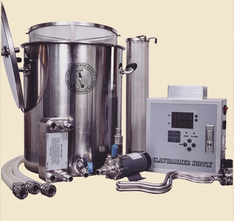 10.5 gallon, 240V, 304 stainless steel brewing system