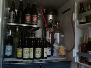 Kegerator Kit Installed inside Beer Fridge