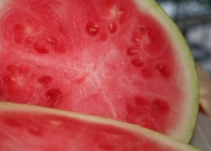 Inside of a watermelon