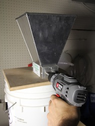 Cordless drill with barley crusher