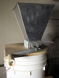 Barley Crusher with handle attachment