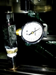 Pressure testing the brutus 10 gas beam