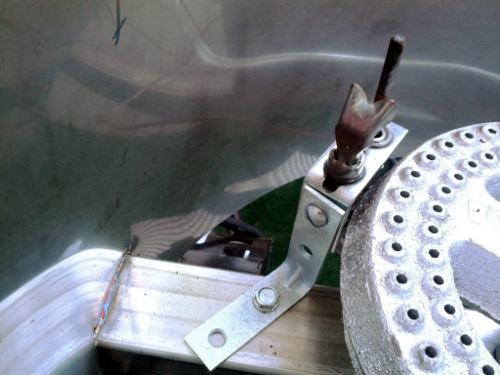 Pilot burner mounted on Brutus 10