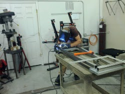 Welding the frame of the Brutus 10