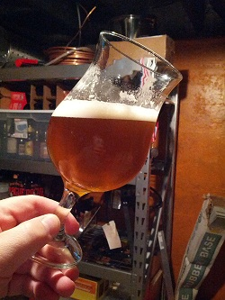 Homebrewed Saison Ale