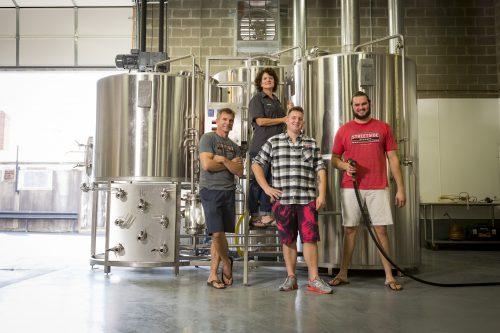 Founders Brian, Kathy and Garrett Hickey and Lead Brewer Luke Shropshire