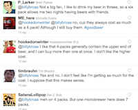 Twitter Responses to 4-Pack question