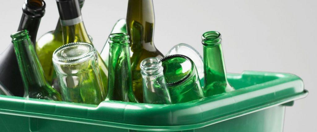 Tub of empty Beer Bottles
