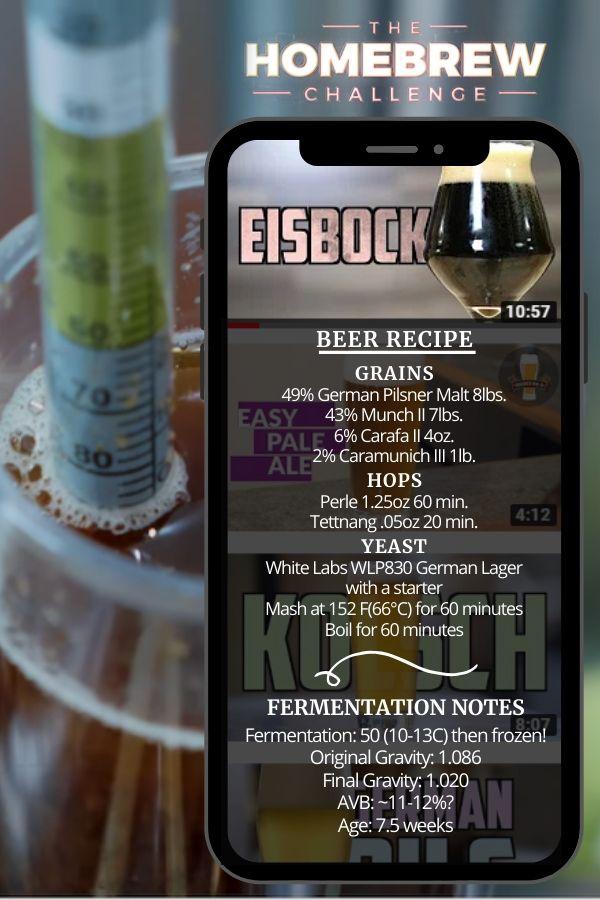Eisbock Home Brew Beer Recipe Card