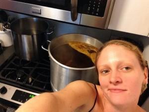 Mid boil selfie