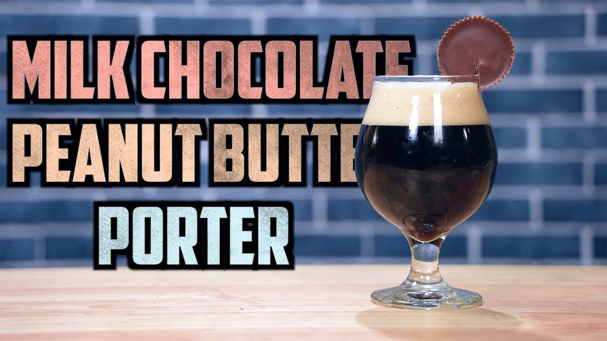 Peanut Butter Porter with Milk Chocolate Cocoa Nibs