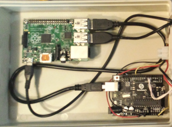 Pi and Arduino connected via USB