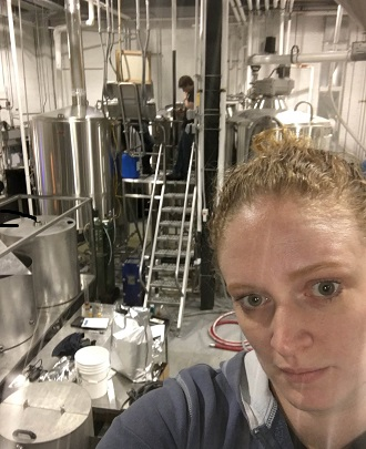 From the top of the canning line, I really have to work on my selfie skills...