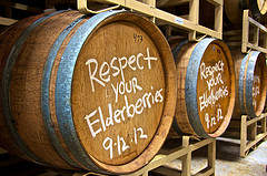 Beer barrel cellar room