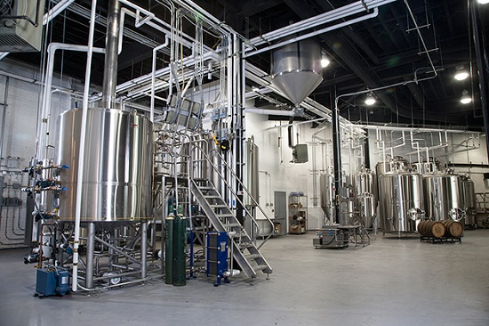 A very tidy view of the brewery