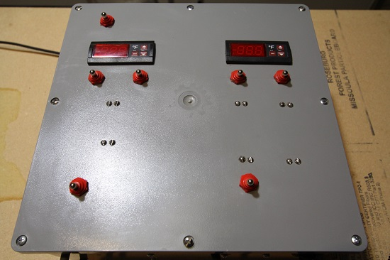 Control panel for the Brutus 10 homebrewing system.