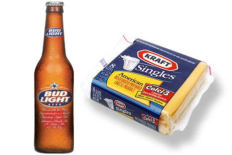 Bud Light and Kraft Singles