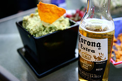 Picture of Corona Beer with food