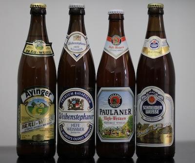 German Hefeweizen Bottles