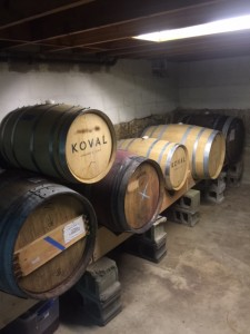 sour beer barrels