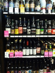 Imported Craft Beer on shelves