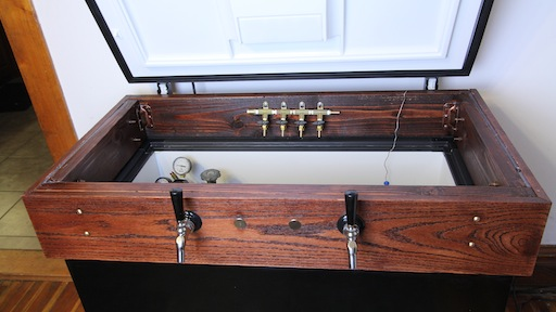 Blueprint for a badass kegerator homebrew academy Home bar furniture with kegerator