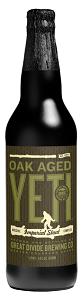 Bottle of Great Divide's Oak Aged Yeti