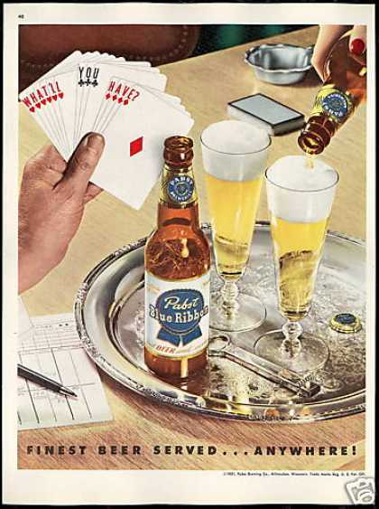 Pabst Vintage Ad - Pabst with Fish