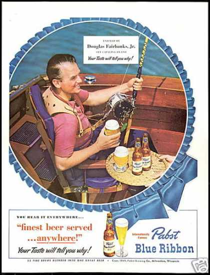 Pabst Vintage Ad - Pabst for Fishing