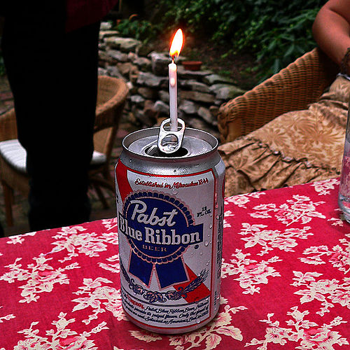 Pabst Blue Ribbon Cake