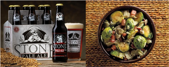 Stone Pale Ale And Garlic Stir-Fried Brussels Sprouts Recipes ...