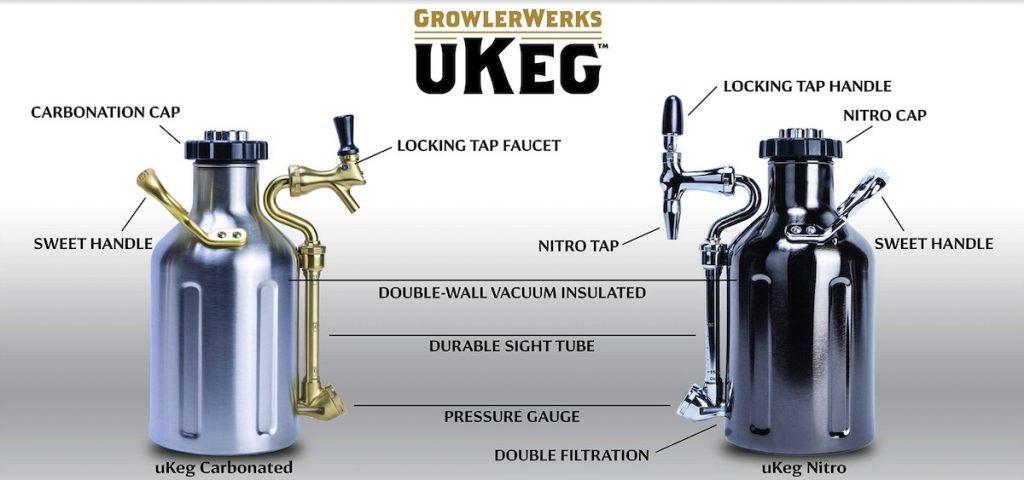 ukeg vs nitro keg specs from growlerworks